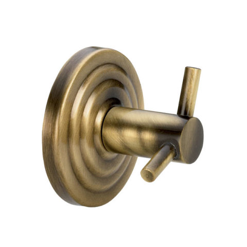 brass double robe hook