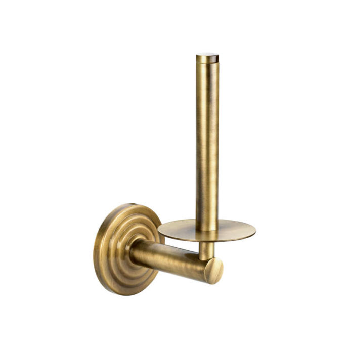 brass spare toilet roll holder
