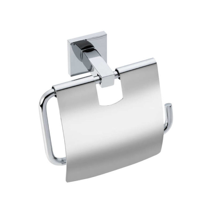 cube toilet roll holder with lid