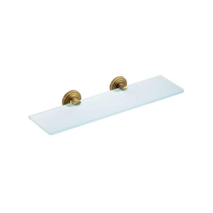 brass glass shelf